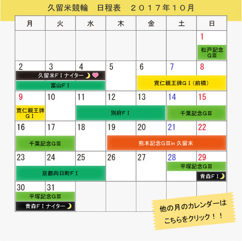 Kurume bicycle race October, 2017 itinerary